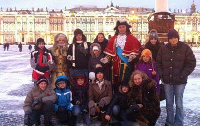 В снежном Петербурге
