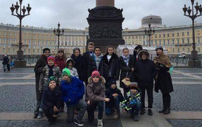 """Поездка """"Матрёшкиных"""" школьников в Санкт-Петербург в октябре 2016"""